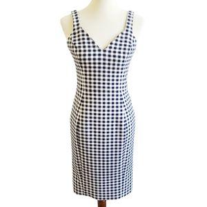 Likely Revolve V Neck Blue Gingham Dress Size 8